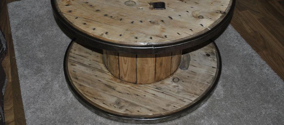 Kabeltrommeln Aus Holz Händler ~ Kabeltrommel Tisch  runder Couchtisch aus Holz