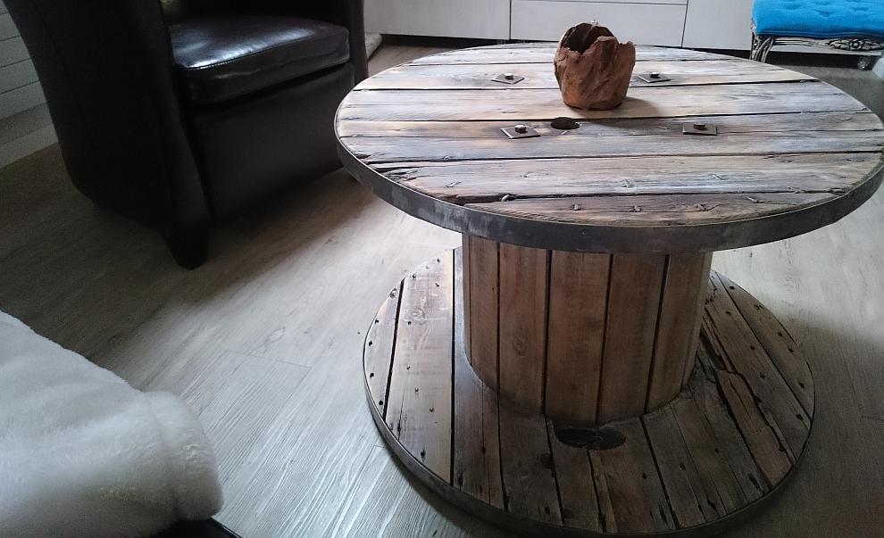 Kabeltrommel Holz Tisch Bauen ~ Kabeltrommel Tisch  runder Couchtisch aus Holz